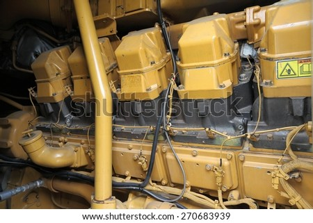 Detail of a big engine - stock photo