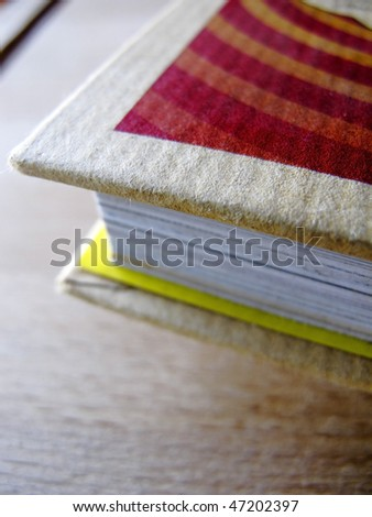 detail of a book in a school - stock photo