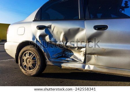 Detail of a broken car - stock photo