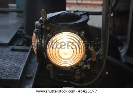 Detail Of A Burning Light On Steam Engine