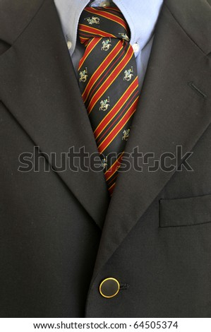 Detail of a businessman tie