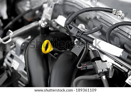 Detail of a car engine - stock photo