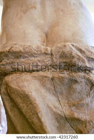 Detail of a classical sculpture. venus de milo.  - stock photo