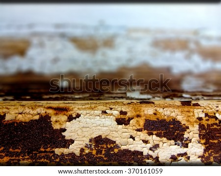 Detail of a damaged window caused by sun and rain. concept for maintenance and repair of the house. - stock photo