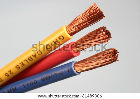 detail of a electrical cable - stock photo