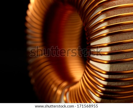 detail of a electronic conductor in dark back - stock photo