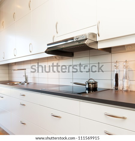 detail of a fancy kitchen - stock photo