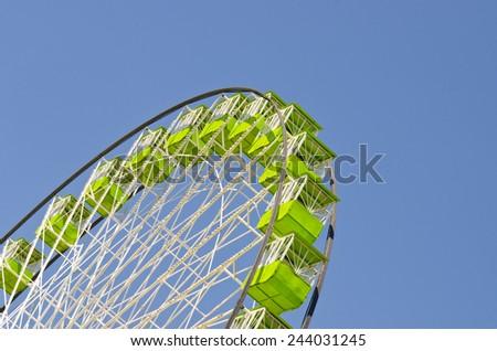 Detail of a giant Ferris wheel - stock photo