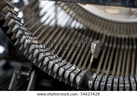 Detail of a historic typewriter - stock photo
