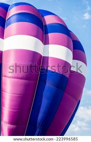 Detail of a hot air balloon - stock photo