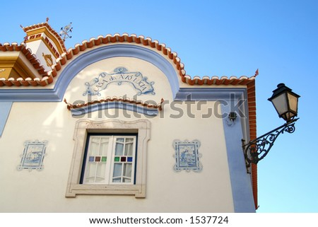 Detail of a house, in Ericeira - Portugal - stock photo