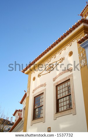 Detail of a house in Ericeira - Portugal - stock photo