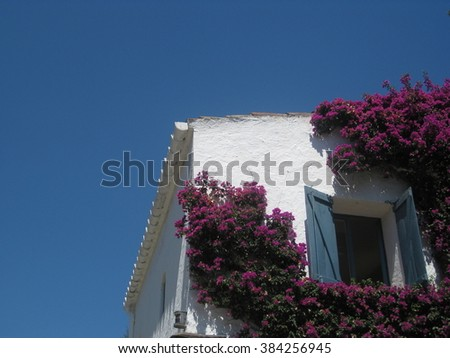Detail of a house in Portlligat, Catalonia  - stock photo