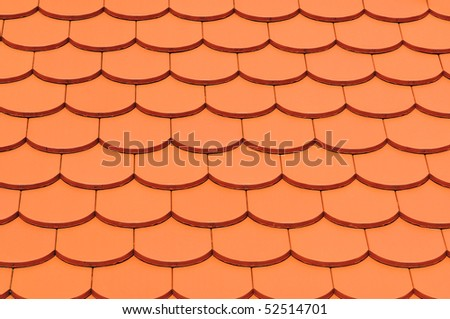 Awesome Detail Of A House Red Roof Tiles.