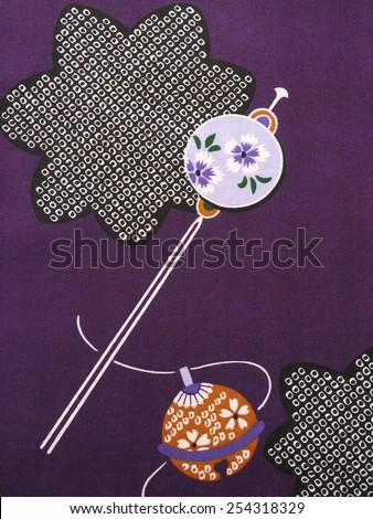 Detail of a kimono - stock photo