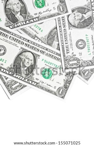detail of a lot dollars like background with space for text - stock photo