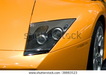 Detail of a luxury sports car
