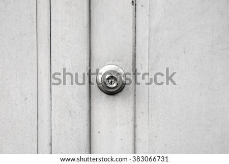 White Wood Door Texture front view door handle white paint stock photo 571784224