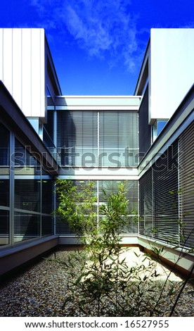 Detail of a Modern office building - stock photo