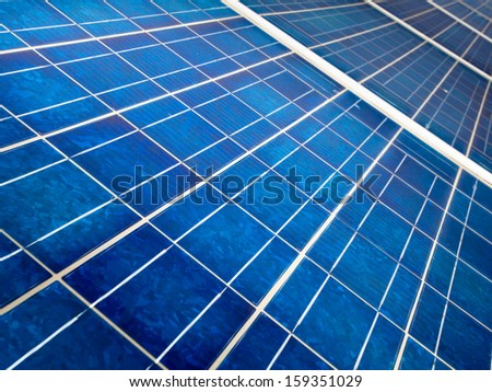 detail of a modern solar cell panel on a beautiful sunny day