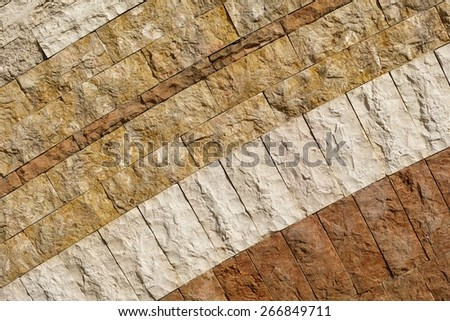 detail of a mosaic made of stone slabs and marble - stock photo