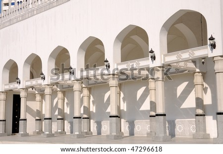 Detail of a Mosque in Abu Dhabi, United Arab Emirates - stock photo