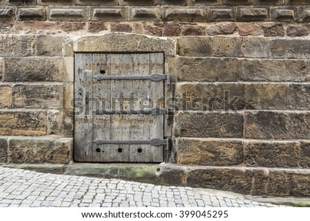 Detail of a old castle - stock photo