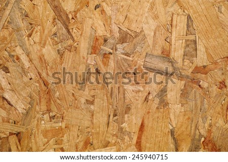 detail of a panel made with wood slivers glued - stock photo