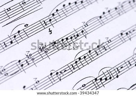 Detail of a paper score - stock photo