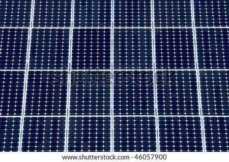 detail of a photovoltaic panel for electricity production - stock photo
