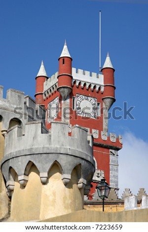 detail of a reinassance castle in sintra