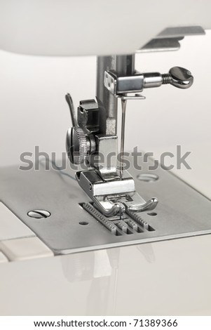 Detail of a sewing machine - stock photo