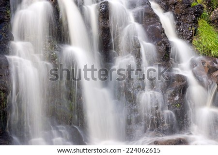 Detail of a small waterfall on the Isle of Skye in Scotland - stock photo