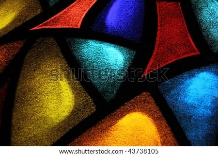 Detail of a stained glass window 1 - stock photo