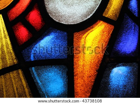 Detail of a stained glass window 2 - stock photo