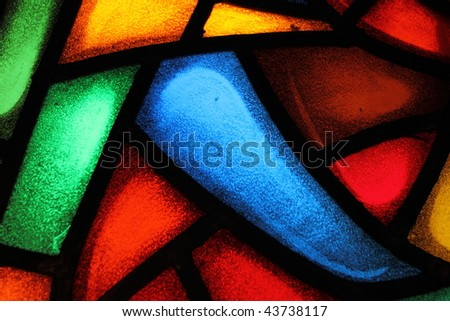 Detail of a stained glass window 5 - stock photo