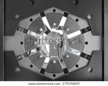 Detail of a stainless steel machine for automated process  - stock photo