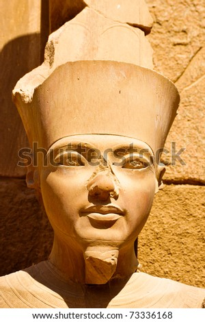 Detail of a statue from Luxor temple in Egypt