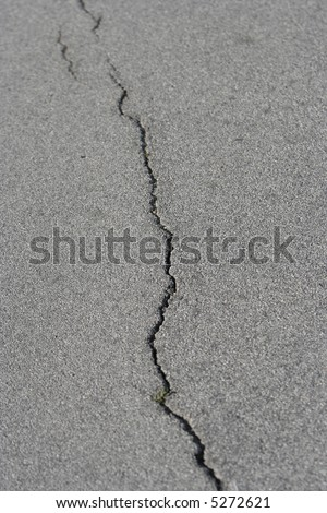 detail of a stone crack - stock photo