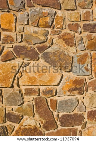 Detail of a stone wall - stock photo