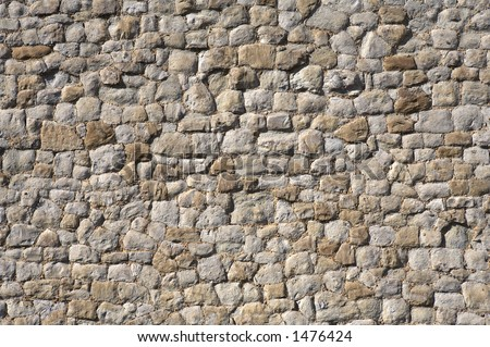 detail of a stone wall of the tower of london, london england uk europe taken in june 2006 - stock photo