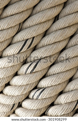 detail of a strong twisted rope