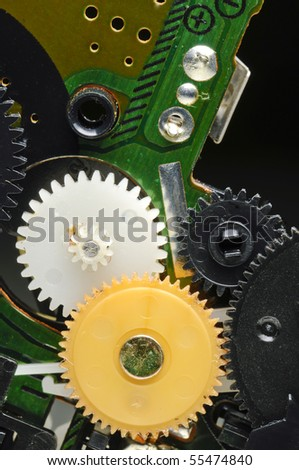 Detail of a tape recorder portable  device - stock photo