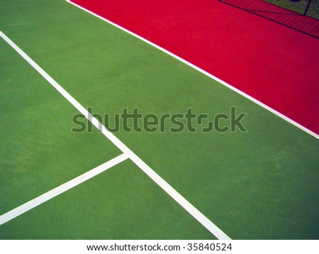 detail of a tennis court