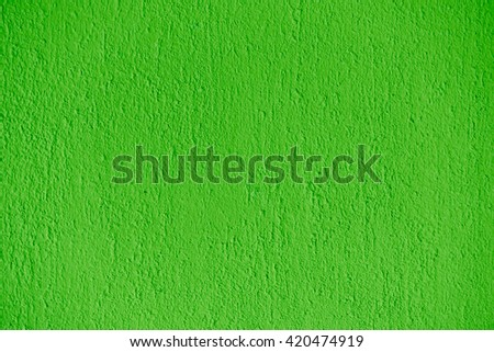 Detail of a textured, green exterior wall. - stock photo