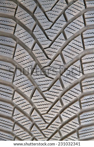 Detail of a tire profile - stock photo