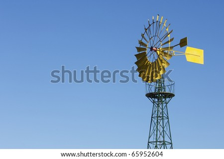 detail of a traditional windmill for agricultural use - stock photo