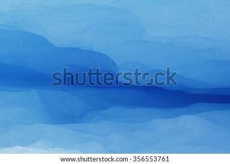Detail of a tunnel in the Perito Moreno Glacier, Patagonia Argentina. - stock photo