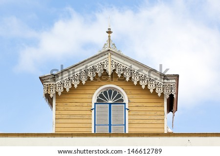 Detail of a typical house at Sao Miguel, Azores - stock photo
