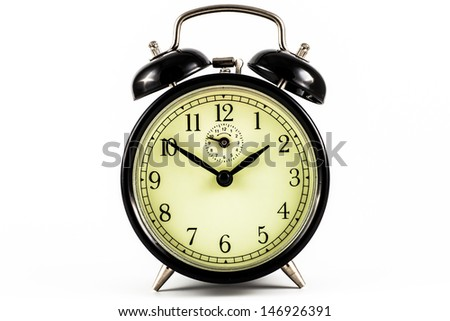 Detail of a used mechanical clock, very flexible concept - stock photo